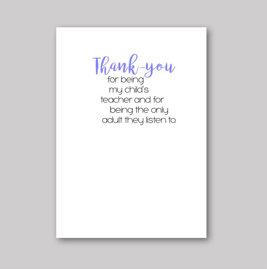 Thank-You Teacher